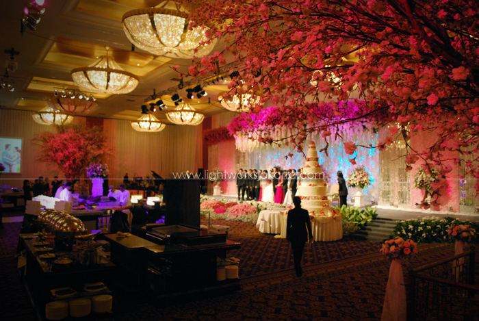 Cherry blossom lightworks harry belindas wedding decoration by located in mulia hotel ballroom jakarta junglespirit Image collections