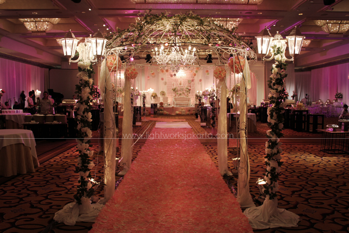 Decoration by Butterfly Event ; Located in Four Seasons Hotel Ballroom ; Lighting by Lightworks
