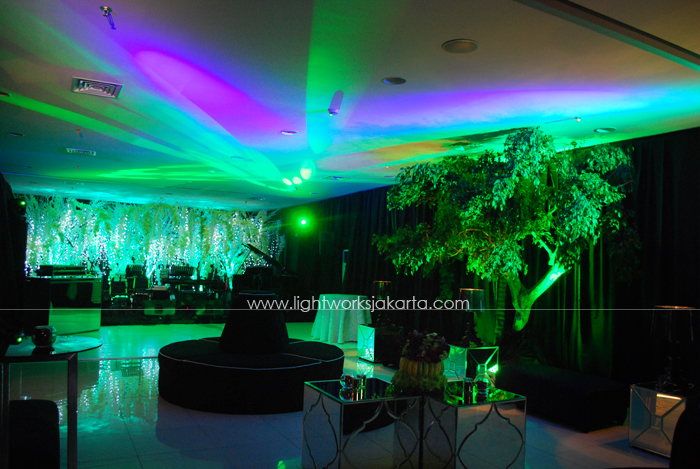 Shill's Birthday Party ; Located in Grand Hyatt's Terrace - OnFive ; Decorated by Flora Lines ; Lighting by Lightworks