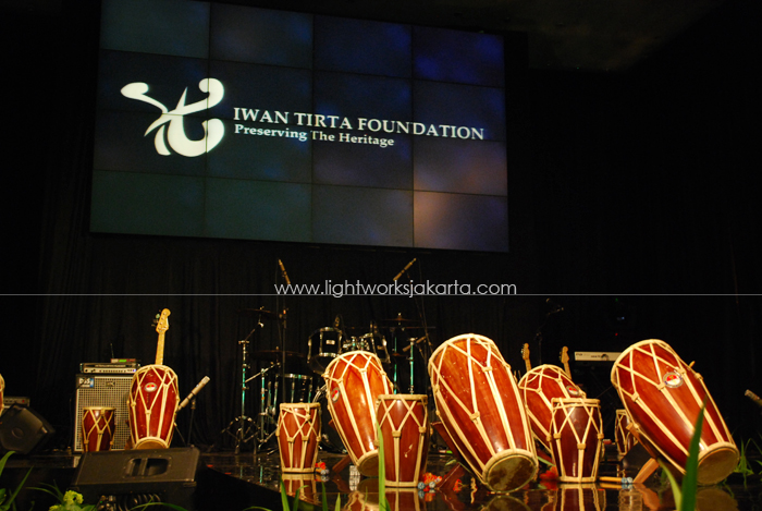 Iwan Tirta Foudation's event ; Located in Dharmawangsa Hotel ; Lighting by Lightworks