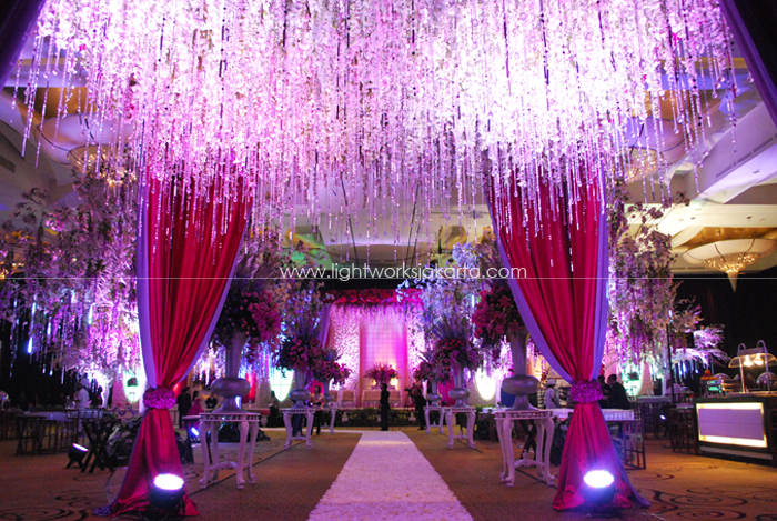David & Sisca's Wedding ; Organized by Kenisha Wedding Organizer ; Decoration by Lotus Design ; Located in Ritz-Carlton Pacific Place Ballroom 3 ; Lighting by Lightworks
