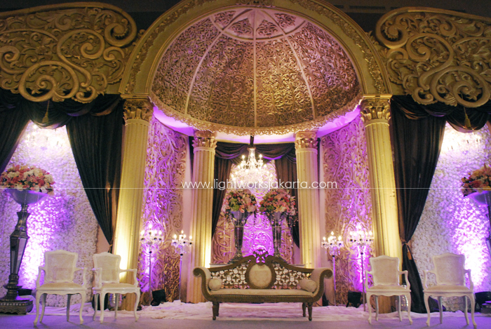 Wedding ; Decoration by Butterfly Event Styling ; Located in Ritz Carlton Boutique Pacific Place; Lighting by Lightworks