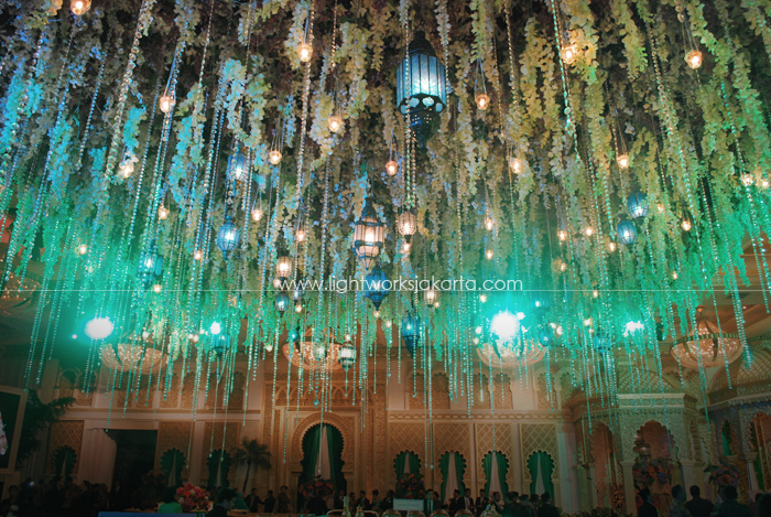 Rendhika & Katika's Wedding ; Decoration by Suryanto Decoration ; Located in Grand Ballroom Hotel Mulia ; Lighting by Lightworks