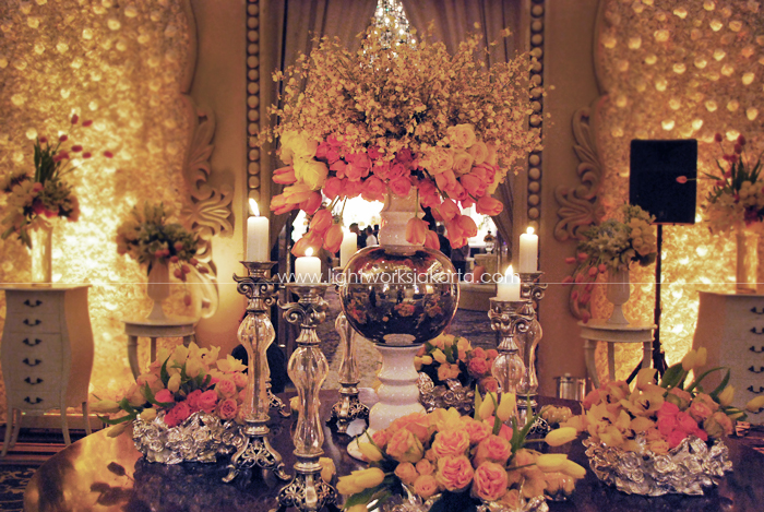 Ivan and Silvia Wedding ; Decoration by Lotus Design ; Located in Kempinski Hotel ; Lighting by Lightworks