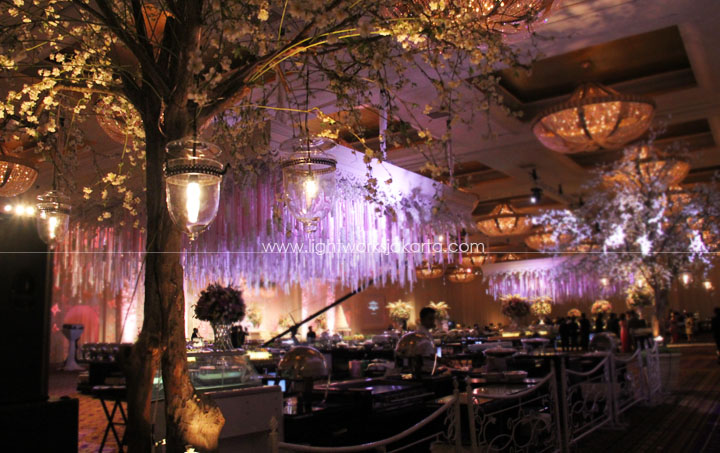 Jerry and Monic's Wedding ; Decoration by Elssy Design ; Located in Hotel Mulia ; Lighting by Lightworks