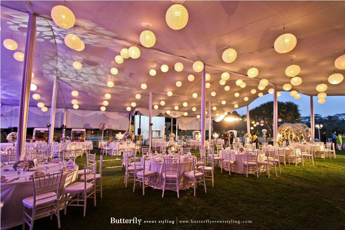 Outdoor wedding lightworks adi antis wedding decoration by butterfly event styling boutique located in klub golf junglespirit Gallery