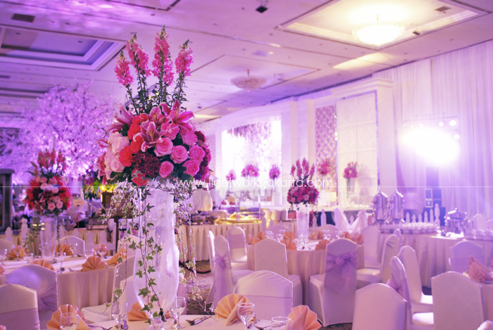 Dhika and Icha's Wedding ; Decorated by Vica Decor; Located in The Cendrawasih Room - JCC; Lighting by Lightworks