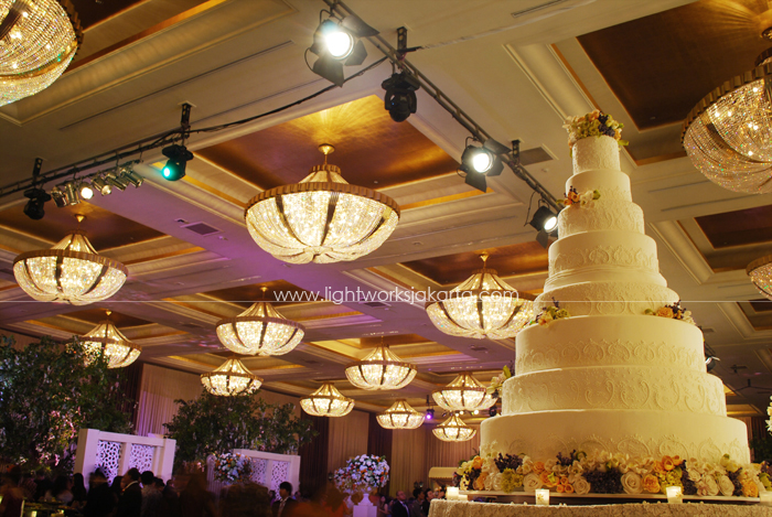 Adrianus & Gita's Wedding ; Elssy Design ; Located in The Grand Ballroom Hotel Mulia; Lighting by Lightworks