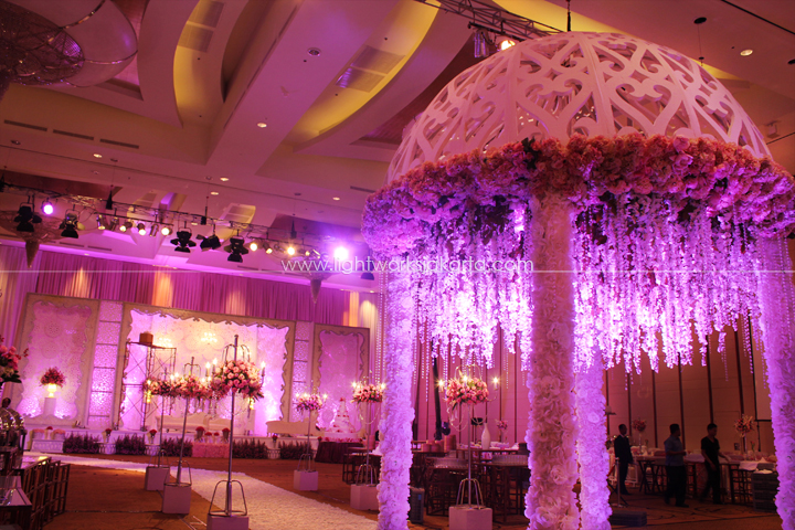 William & Michelle's Wedding; Decorated by De Sketsa; Located in Ritz Carlton Pacific Place; Lighting by Lightworks