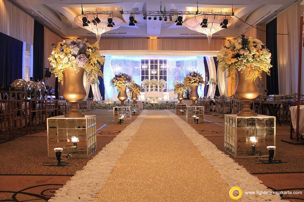 Varian and Margie's Wedding; Venue at Ritz Carlton Pacific Place; Decoration by De Sketsa Decoration; Lighting by Lightworks