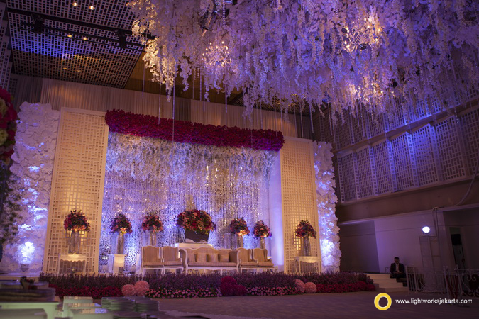 Edi and Janice's wedding reception; Venue at UOB Nine Thamrin; Decoration by Vica Decoration; Lighting by Lightworks