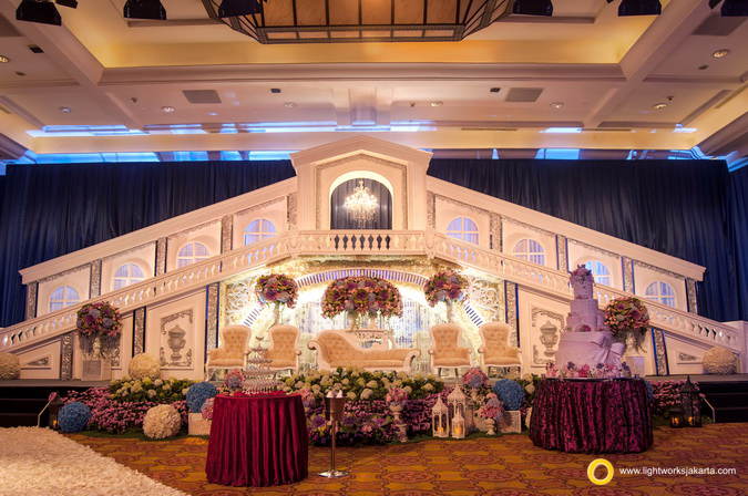 Andreas and Monica's Wedding Reception; Venue at JW Marriot; Organized by Private WO; Decoration by Grasida Decoration; Lighting by Lightworks
