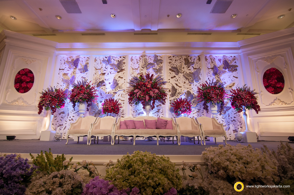 Arno and Evelyn's Wedding Reception; Venue at JW Marriot; Decoration by Lotus Design; Lighting by Lightworks