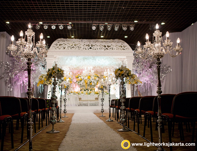 Vicky and Agus's Holy Matrimony | Venue at GBI Gilgal | Decoration by Vica Decor | Lighting by Lightworks