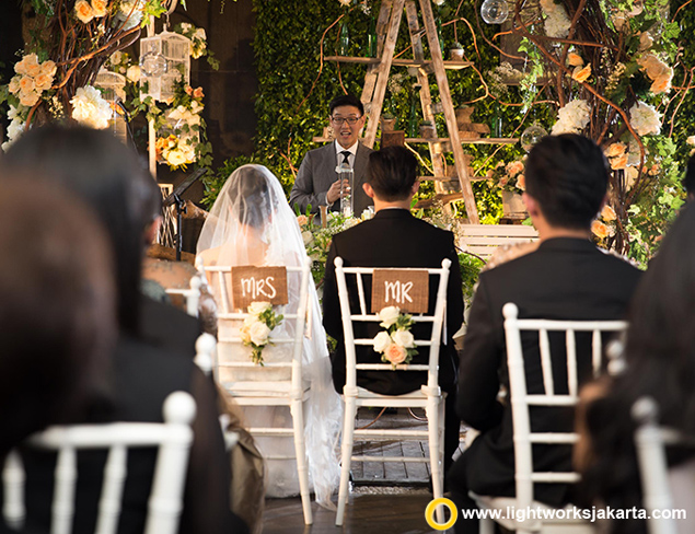 Ronald and Nadya's Holy Matrimony and Wedding Reception | Venue at Pastis Kitchen & Bar Aston Kuningan Suite | Photo and Video by Tessy Penyami | Decoration by Stephanus Friend and Friends | Lighting by Lightworks