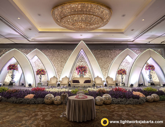 Ferdinand and Nina's wedding reception | Venue at Shangri-La | Decoration by Lotus Design | Organised by Image Planner | Gown by The Silk Jakarta and Agus Lim | Make up by Susy Kleo | Wedding Cake by Timothy | Lighting by Lightworks Jakarta