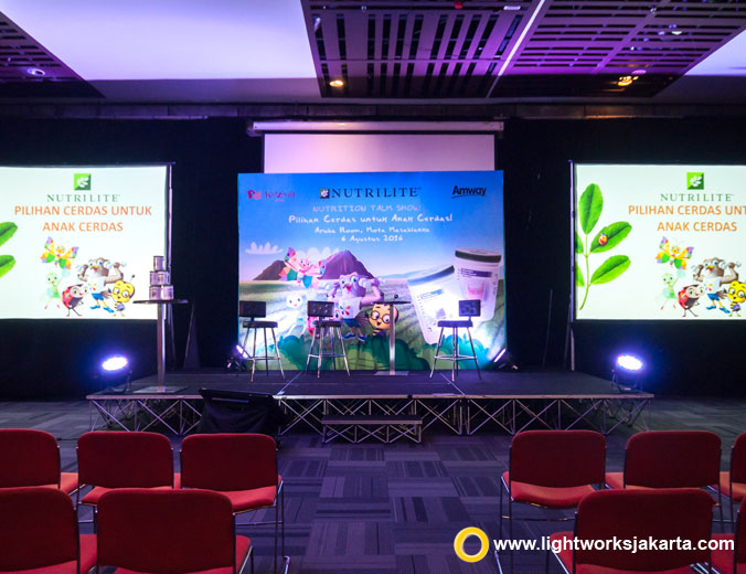 Nutrilife Parenting Seminary | Venue at The Kasablanka | Lighting by Lightworks Jakarta