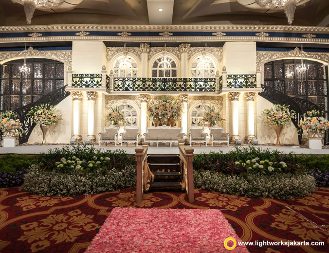 Yuda and Tania wedding reception   Venue at The Ritz-Carlton Pastific Place   Decoration by White Pearl Decoration   Organised by Olivia Organizer   MC are Nika and Erick   Entertainment by Hardian Entertainment   Photo and Video by JHV Studios   Make up by Zeva Leviel   Wedding cake by Timothy Cake Jakarta   Lighting by Lightworks
