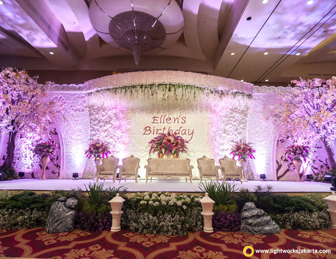 Ellen's 71th Birthday Party | Venue at The Ritz-Carlton Pasific Place | Decoration by White Pearl Decoration | Lighting by Lightworks