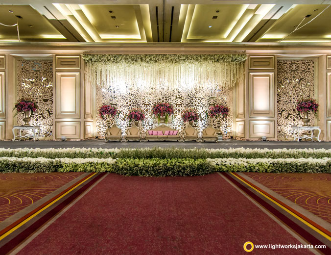 Christiansen and Devina's wedding reception | Venue at Pullman Jakarta Central Park | Decoration by Lotus Design | Cake by Timothy Cake Jakarta | MC by Didi Christophe | Photo and video by Atipattra | Make up by Donny Liem | Entertainment by Faire Entertainment | Sound system by Sonus Live Sound Reinforcement | Lighting by Lightworks
