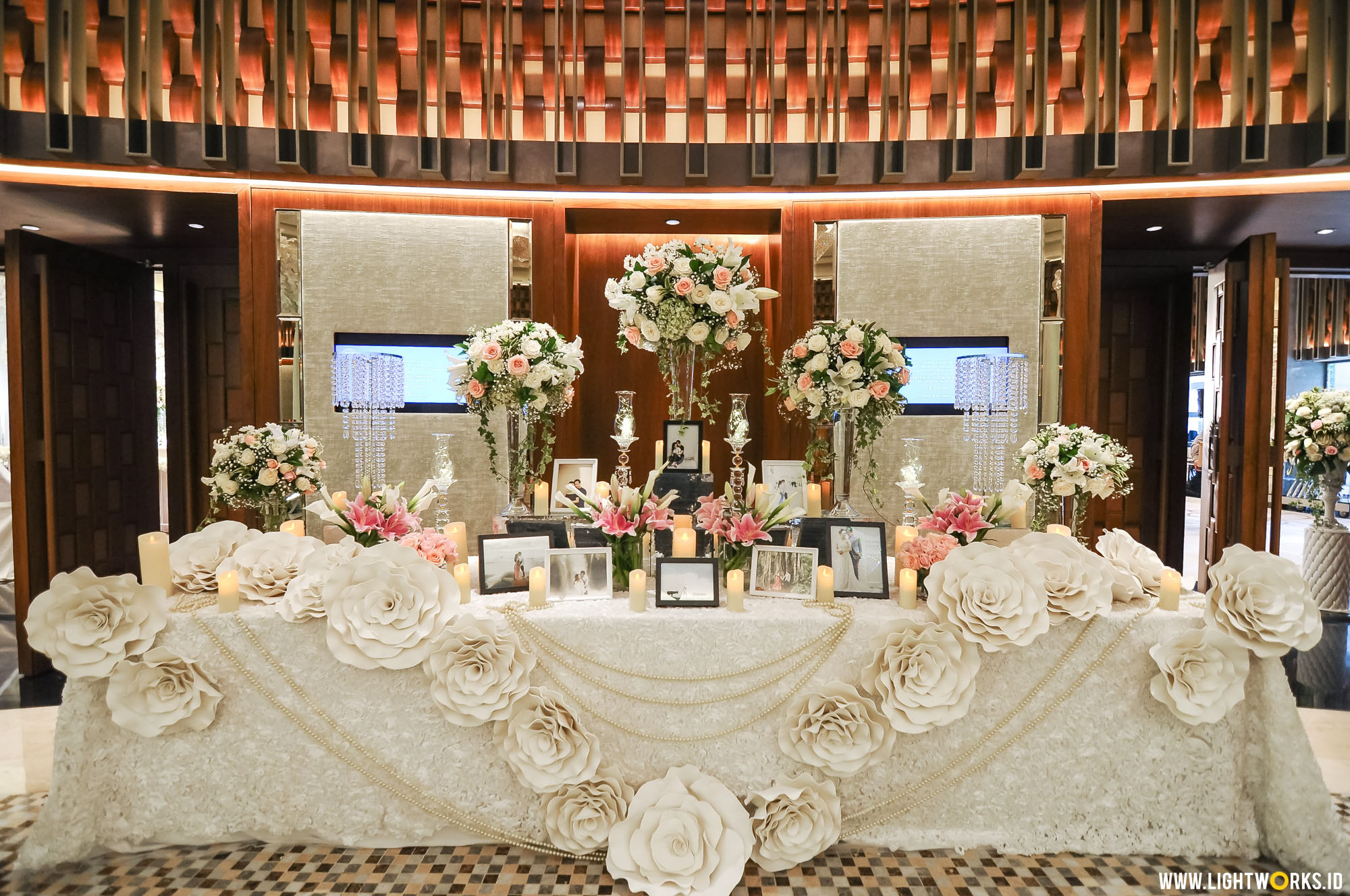 Heart melted wedding lightworks bob and chelines wedding reception venue at ayana midplaza jakarta organised by red wedding junglespirit Choice Image
