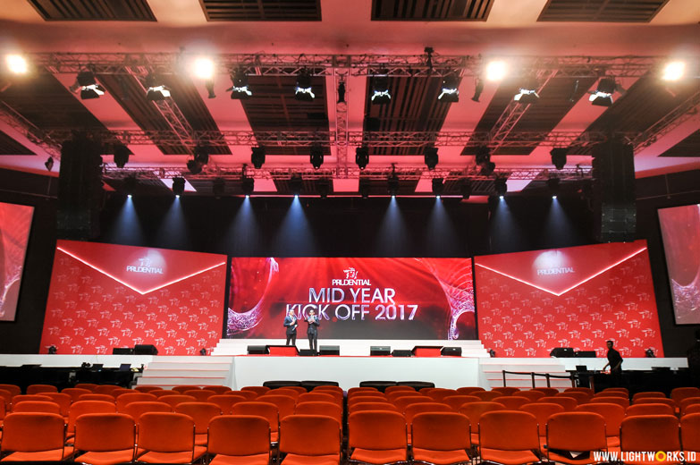 Prudential Mid Year Kick Off 2017 | Venue at The Kasablanka | Sound by Soundworks | Lighting designer Natan Budiman | Lighting by Lightworks