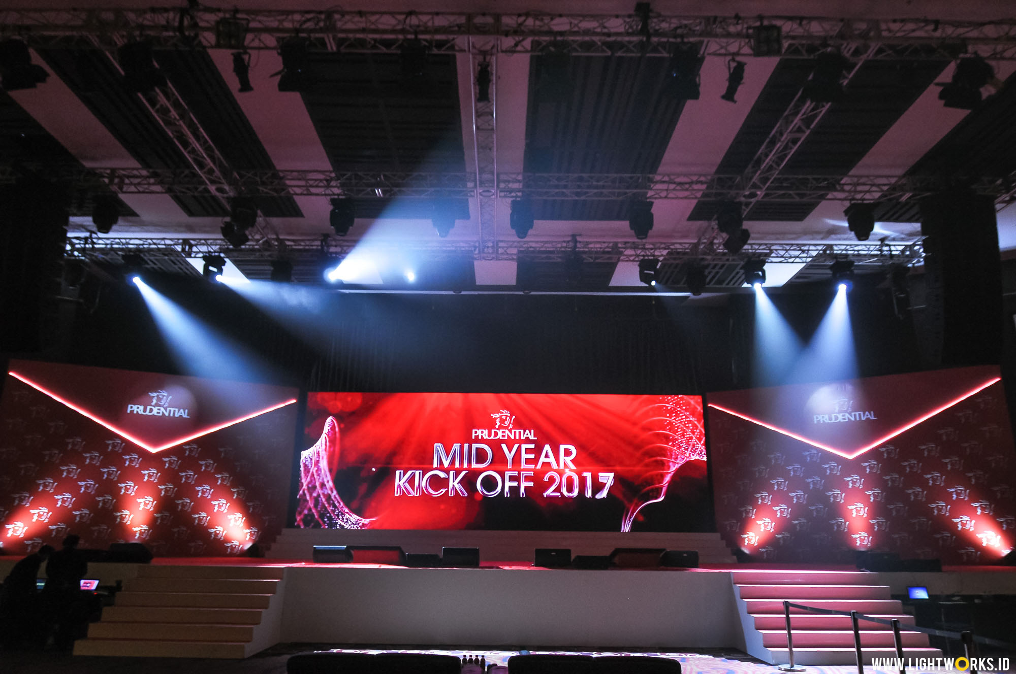 Prudential Mid Year Kick Off 2017 | Venue at The Kasablanka | Lighting designer Natan Budiman | Lighting by Lightworks
